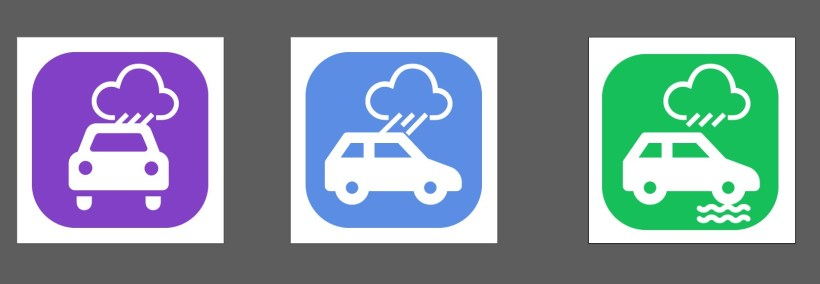 car-rain-water-pictogram